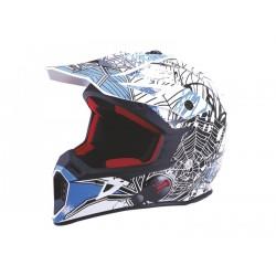 KASK VCAN MODEL V325 WHITE BLACK WINDOW BLUE BIAŁO-CZARNY-NIEBIESKI XL