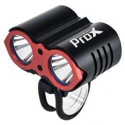 PROX DUAL II lampka przednia akumulatorowa czarno-czerwona